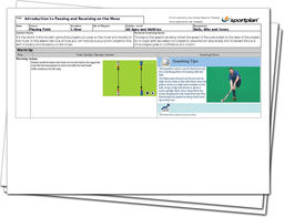 Hockey Lesson Plan: Attacking Overlaps and Passing on the Run!
