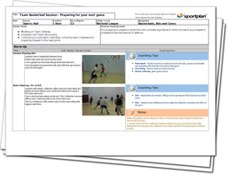Basketball Lesson Plan: Preparing for your next game - Team Session