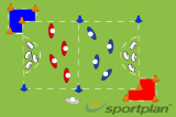 Capture and Escape - Evasion and Tackling GameTacklingRugby Drills Coaching