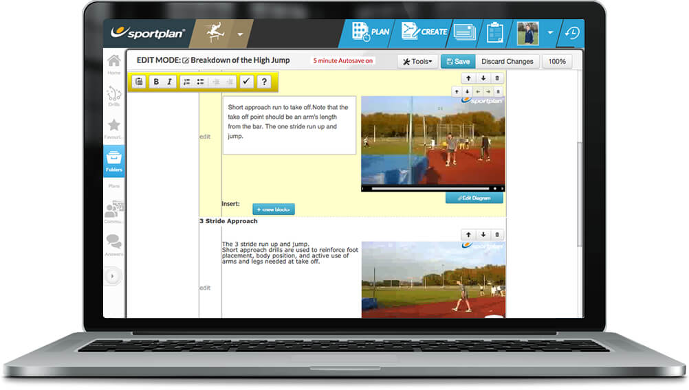 Athletics Session Planner