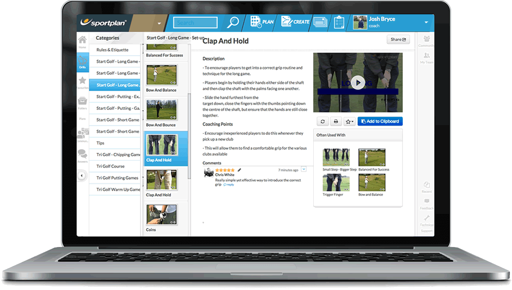 Golf Coaching Drills Library