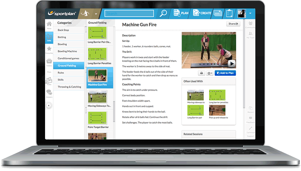 Rounders Coaching Drills Library