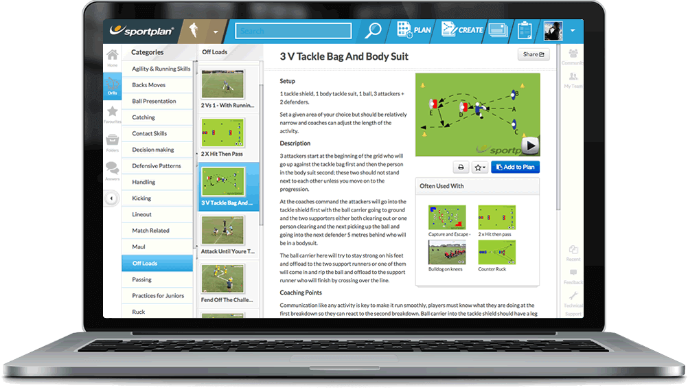 Rugby Coaching Drills Library