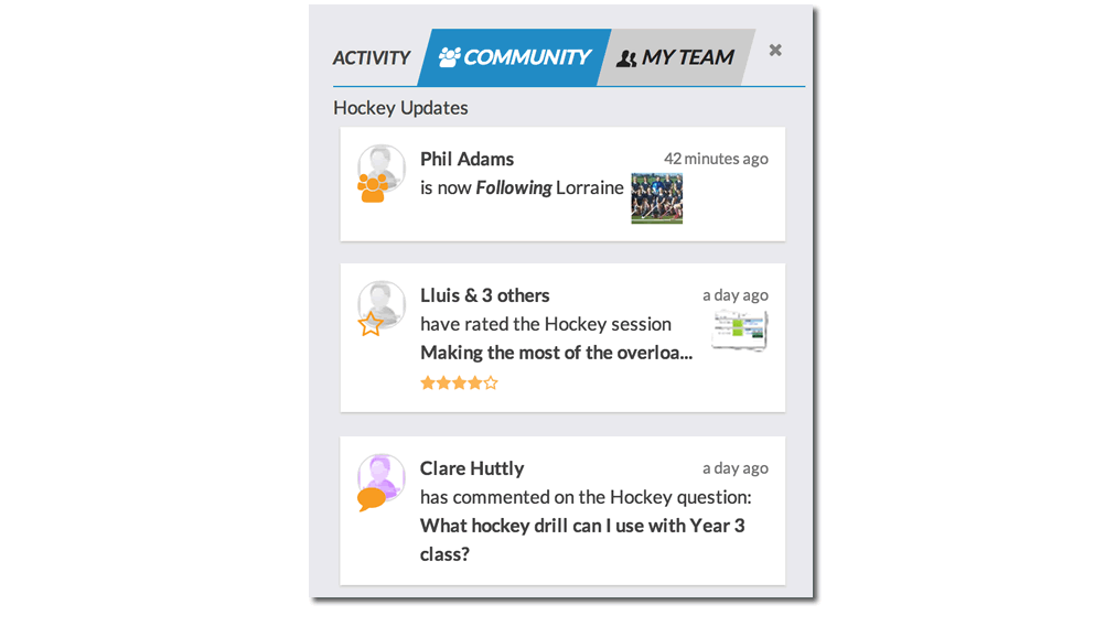 Ice Hockey Coaching Social Network
