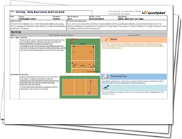Volleyball Lesson Plan: Setting - Body Awareness And Footwork