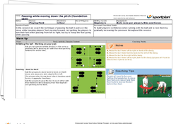Hockey Lesson Plan: Junior and Senior Sessions -  Attacking 2v1 and Forward Feet Dribbling