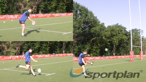 Drop Kick with Target Kicking - Rugby Drills, Rugby | Sportplan