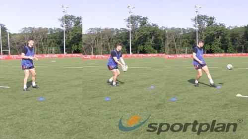 Footwork in the Drop Punt Kicking - Rugby Drills, | Sportplan