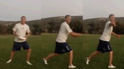 Backhand Throw with Pivot   Throwing Skills