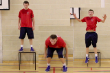 Box Jump / Depth Jump - Turn and Jump againFitnessBasketball Drills Coaching