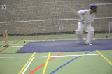 Example of advancing down wicketBatting MechanicsCricket Drills Coaching
