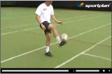 First touch - Bringing the ball downTechnique videoSoccer Drills Coaching
