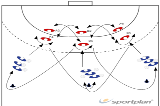 1:1 duels327 close defence for attackerHandball Drills Coaching