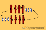 coordination 2111 running/jumping/movingHandball Drills Coaching