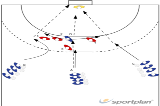 triple task libero in 3:2:1 defence545 3:2:1 defenceHandball Drills Coaching