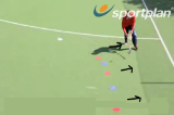 Reverse Stick Dink: Carrying down the line3D skillsHockey Drills Coaching