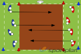 Power Passing - Hit beyond the defence Drill Thumbnail