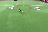 2v1 Elimination: Disguised upright passingEliminating a PlayerHockey Drills Coaching