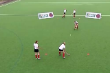 Relays: Push PassMoving with the ballHockey Drills Coaching