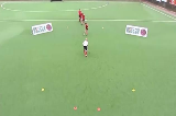 Elimination Skills: Semi Opposed V-drag (Right to Left)Eliminating a PlayerHockey Drills Coaching