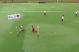 Escape Through The Gate On The AnglePassing & ReceivingHockey Drills Coaching