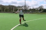 Hit at Goal off Right FootShooting & GoalscoringHockey Drills Coaching