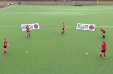 Push around the box - Right to Left and FollowPassing & ReceivingHockey Drills Coaching