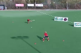 Slap Hit - Defend the GoalPassing & ReceivingHockey Drills Coaching