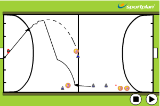 Hook Dribble - PassIndoor HockeyHockey Drills Coaching