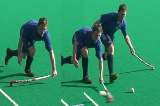 1 Hand Reverse stick hitVideo TechniquesHockey Drills Coaching