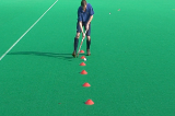 Indian Dribble (through cones)Video TechniquesHockey Drills Coaching