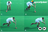 Correcting the players to run the ball in front of the body Drill Thumbnail