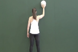 Single handed ball control against wall using left and right hands Drill Thumbnail