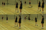 Catch pivot and pass relayFootworkNetball Drills Coaching