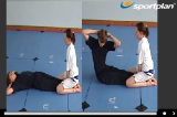 Trunk Curls - Pike Shape with twistingKey 5 9 Assisted ConditioningGymnastics Drills Coaching