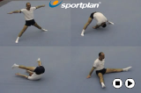 Straddle Forward Roll to Straddle Sit Drill Thumbnail