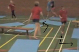 Jogging with changes of direction around and between mats Drill Thumbnail
