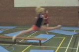 Jogging and leaping over widths and corners of matsKey 2 Body Temperature RaisingGymnastics Drills Coaching