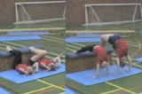 Bridge up against apparatus (feet high/hands low)Key 2 content balanceGymnastics Drills Coaching