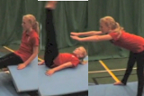 Straddle forward roll exits along or off apparatus Drill Thumbnail