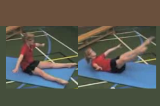 Rocking in a dish straddle shapeKey 2 Body ConditioningGymnastics Drills Coaching