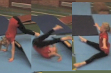 Straddle forward roll from apparatus to straddle sitKey 2 content Forward rollGymnastics Drills Coaching