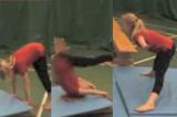Straddle forward roll down incline to feetKey 2 content Forward rollGymnastics Drills Coaching