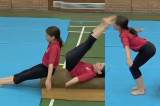 Tuck forward roll exit from low box topKey 2 content Forward rollGymnastics Drills Coaching