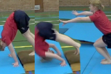 Tuck forward roll down an inclineKey 2 content Forward rollGymnastics Drills Coaching