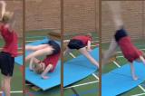 Linkage routine forward rollKey 2 GC LinkageGymnastics Drills Coaching
