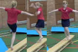 Hopping Turns On ApparatusKey 2 content Jump & TwistsGymnastics Drills Coaching