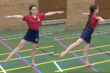 1/4 Twist from sideways single leg balance into arabesqueKey 2 Calm DownGymnastics Drills Coaching