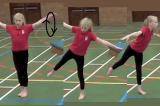Calm Down Arm Circles with leg balance into ArabesqueKey 2 Calm DownGymnastics Drills Coaching