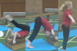Backward roll from a box topKey 2 content Backwards RollGymnastics Drills Coaching